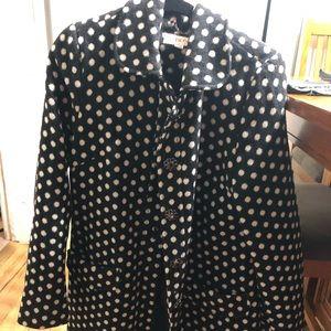 Super fun polka dot pea coat by Merona size XL